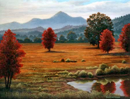 Oil painting of Autumn colors.