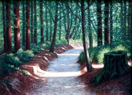 Oil painting of Fall Creek Trail