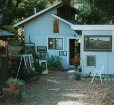 A picture of the outside of the artist's studio