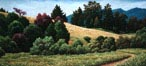 Oil painting of Point Reyes hillside.