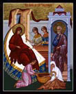 Icon of The Birth of the Theotokos.