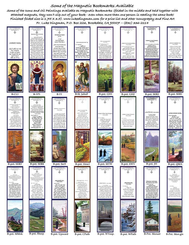 page of magnetic bookmarks.