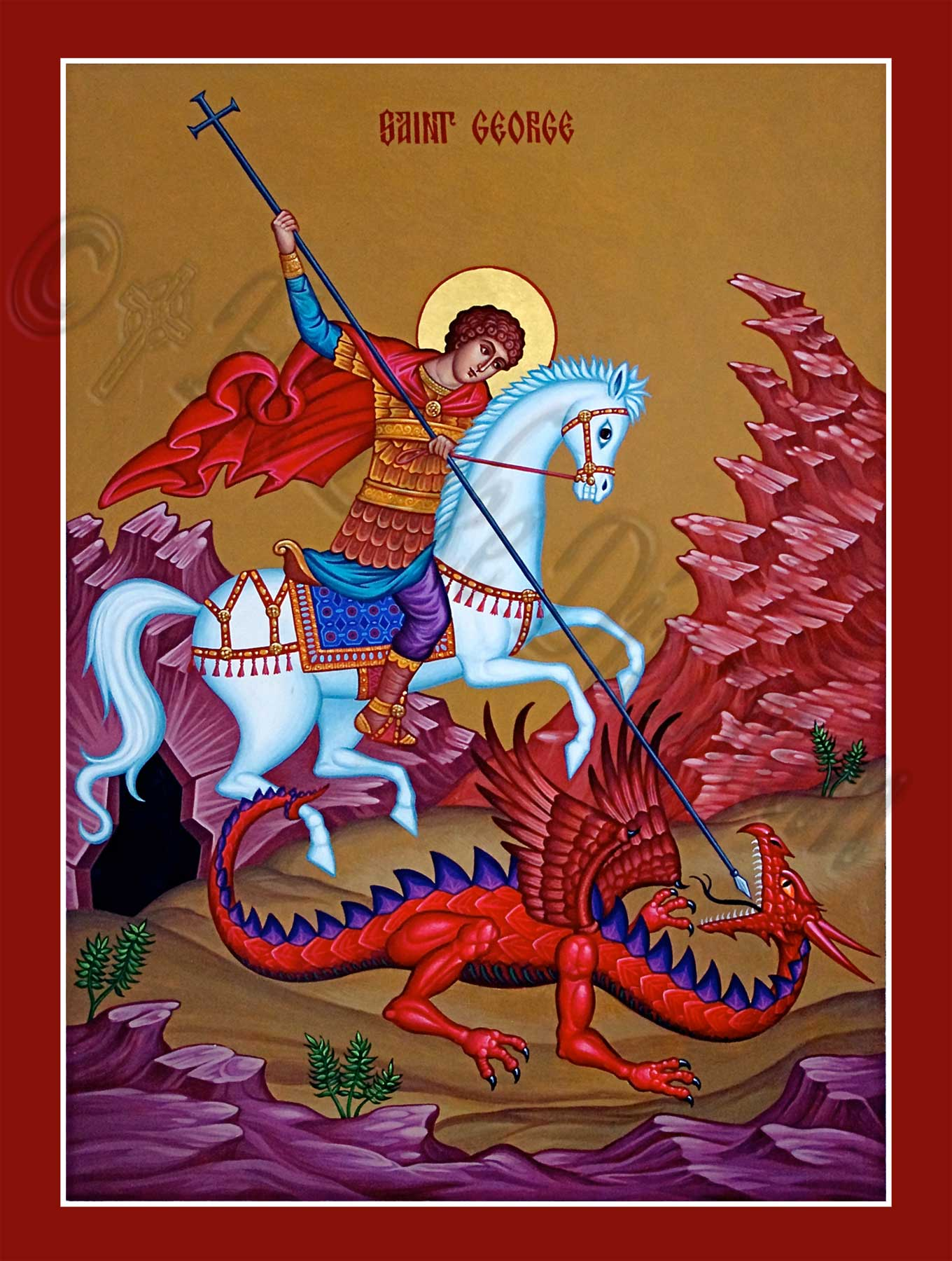 Saint George w. dragon