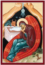 Icon of simple Nativity